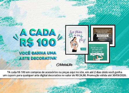 Compre R$100 e ganhe uma arte digital decorativa