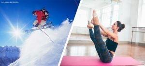 Pilates na preparação para esquiar